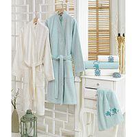 Set 2 županů a 4 ručníků z bavlny Minty