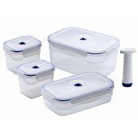 Set 4 boxů na potraviny a vakuové pumpy Compactor Food Saver