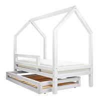 Set bílé zásuvky a 4 přídavných nohou k posteli Benlemi Funny, 80x160cm