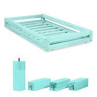 Set modré zásuvky pod postel a 4 prodloužených nohou Benlemi,propostel120x200cm