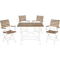 Set zahradního stolu a 4 židlí z akátového dřeva Safavieh Keira