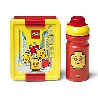 Set žluto-červeného svačinového boxu a lahve na pití LEGO® Iconic