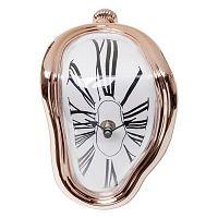 Stolní hodiny v barvě růžového zlata Kare Design Flow