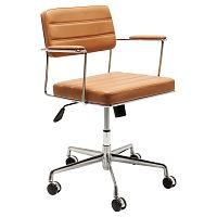Světle hnědá kancelářská židle Kare Design Dottore