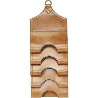 Světle hnědý závěsný držák na lahve z pravé bůvolí kůže Kare Design Bottle Rack
