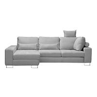 Světle šedá rohová rozkládací pohovka Windsor & Co Sofas, levý roh Alpha