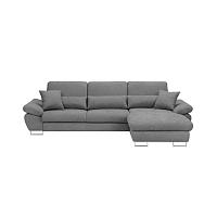 Světle šedá rozkládací rohová pohovka Windsor & Co Sofas Pi, pravý roh