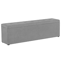 Světle šedý otoman s úložným prostorem Windsor & Co Sofas Astro, 180 x 47 cm