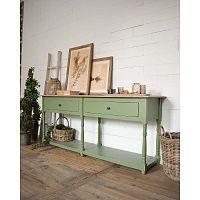Světle zelený konzolový stolek zborovicového dřeva Orchidea Milano Cortina