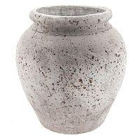 Terakotová váza Clayre&Eef Minsie, výška 28 cm