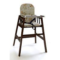Tmavě hědá dřevěná dětská jídelní židlička Faktum Abigel