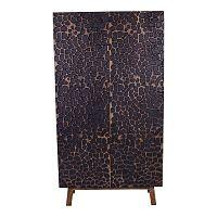 Tmavě hnědá dvoudveřová skříň z mangového dřeva House Nordic Kapra