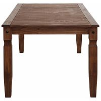 Tmavě hnědý jídelní stůl z borovicového dřeva Støraa Alfredo, 80x120cm