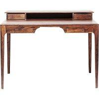 Tmavě hnědý pracovní stůl z exotických dřevin Kare Design Brooklyn