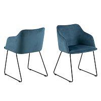 Tmavě modrá jídelní židle Interstil Casablanca