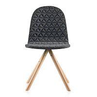 Tmavě šedá židle s přírodními nohami IkerMannequinTriangle