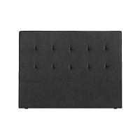 Tmavě šedé čelo postele Kooko Home Basso, 120 x 140 cm
