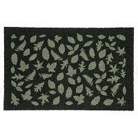 Tmavě zelená rohožka Tica Copenhagen Leafes, 40x60cm