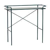 Tmavě zelený konzolový stolek Hübsch Catrine