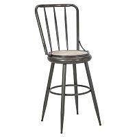 Tmavošedá barová židle Mauro Ferrettii Bar Berlin Jessy
