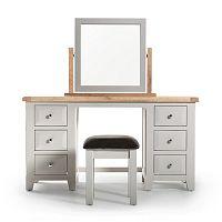 Toaletní stolek a stolička z akáciového dřeva VIDA Living Clemence