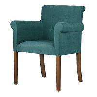 Tyrkysová židle s tmavě hnědými nohami Ted Lapidus Maison Flacon