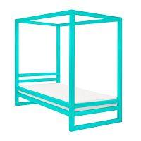 Tyrkysově modrá dřevěná jednolůžková postel Benlemi Baldee, 200x120cm