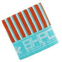 Tyrkysovo-oranžov ručník Beverly Hills Polo Club Lawson, 50x100cm