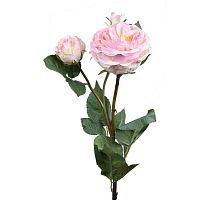 Umělá květina Ego Dekor Světle růžová růže