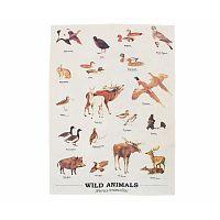 Utěrka Gift Republic Wild Animals Multi