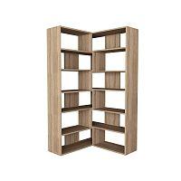 Variabilní knihovna v dekoru dubového dřeva Molly, výška179cm
