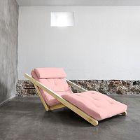 Variabilní lenoška Karup Figo Raw/Pink Peonie