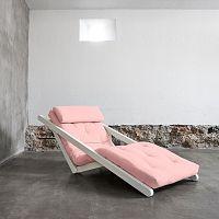 Variabilní lenoška Karup Figo White/Pink Peonie