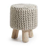Vysoká krémová stolička La Forma Sleek