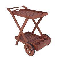 Zahradní servírovací vozík z eukalyptového dřeva ADDU Toledo