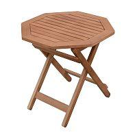 Zahradní skládací odkládací stolek z eukalyptového dřeva ADDU Mayfield