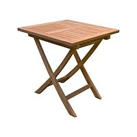 Zahradní skládací stůl z teakového dřeva ADDU Solo, délka75cm