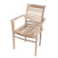 Zahradní stohovatelná židle z teakového dřeva ADDU Java