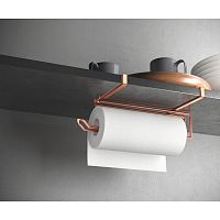 Závěsný držák na papírové utěrky v měděné barvě Metaltex