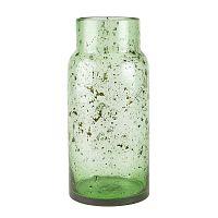 Zelená skleněná váza Villa Collection