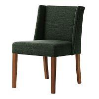 Zelená židle s tmavě hnědými nohami Ted Lapidus Maison Zeste