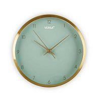 Zelené hodiny s rámem ve zlaté barvě Versa Runna, ⌀ 25,8 cm