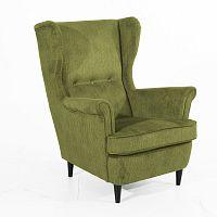 Zelené křeslo s černými nohami Max Winzer Clint