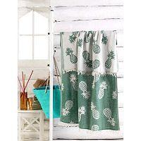 Zelený bavlněný ručník Ananas, 180 x 100 cm