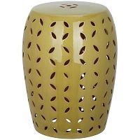 Zelený keramický odkládací stolek vhodný do exteriéru Safavieh Atticus
