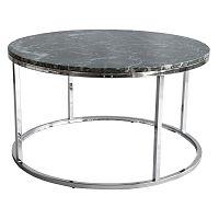 Zelený mramorový konferenční stolek s chromovaným podnožím RGE Accent, ⌀85cm