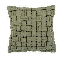 Zelený polštář ZicZac Clusp, 45x45cm