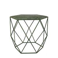 Zelený stolek s mramorovou deskou HF Living Gemstone