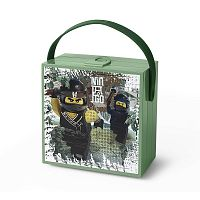 Zelený úložný box s rukojetí LEGO® Army Ninjago