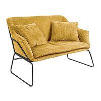 Žlutá dvoumístná pohovka Leitmotiv Glam